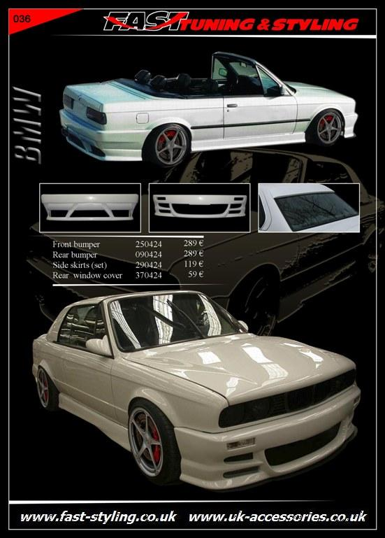 BMW E30 Cabrio Body Kit