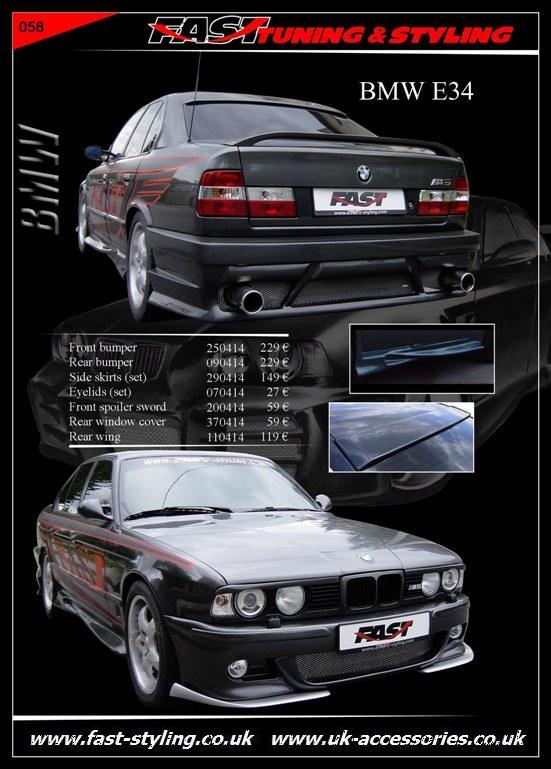 UK Accessories Ltd. BMW E34 Black II Body Kit