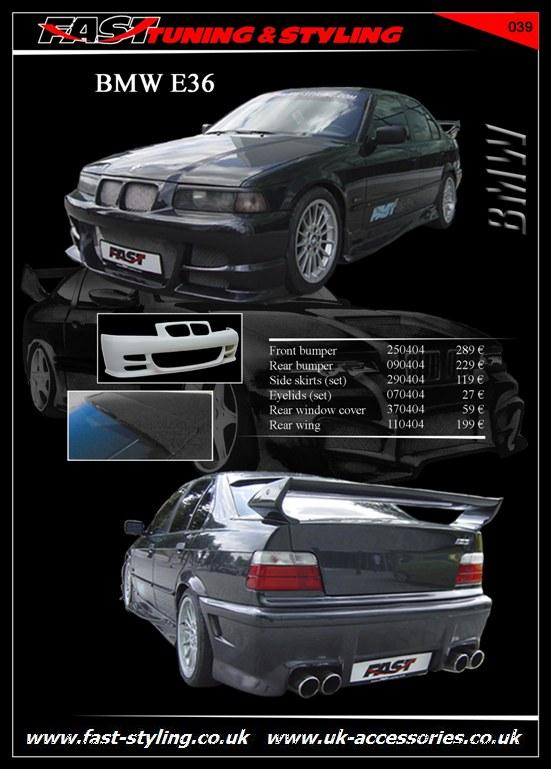 BMW E36 Black I Body Kit