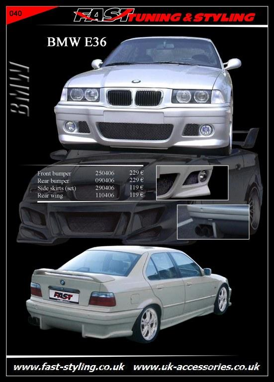 BMW E36 White Body Kit