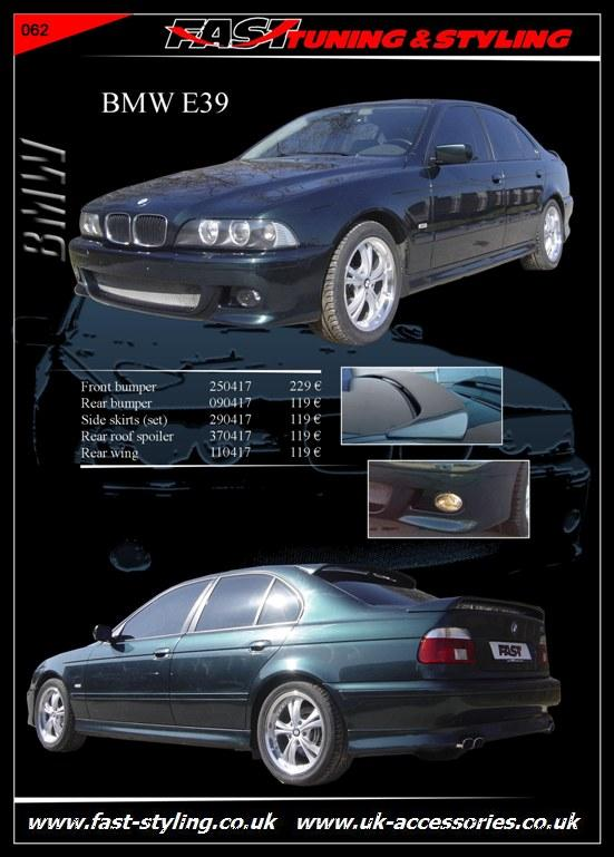 uk accessories ltd bmw e39 black body kit. Black Bedroom Furniture Sets. Home Design Ideas