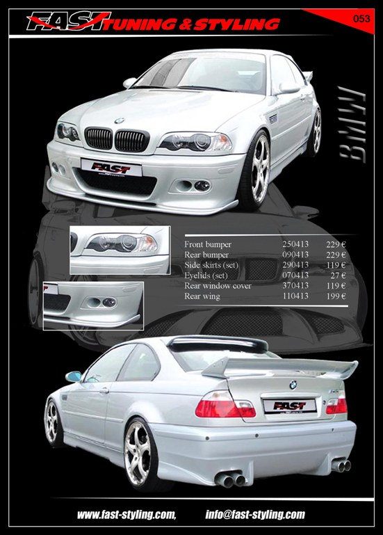 BMW E46 Silver Coupe I Body Kit