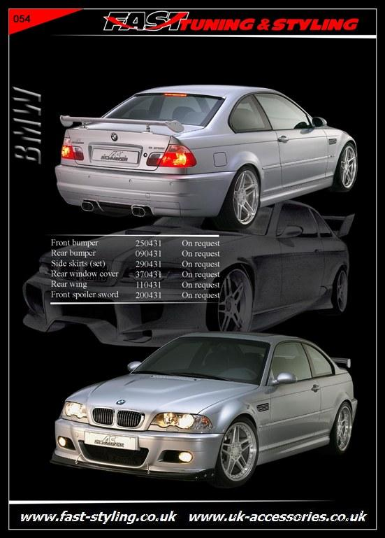 BMW E46 Coupe Silver Body Kit