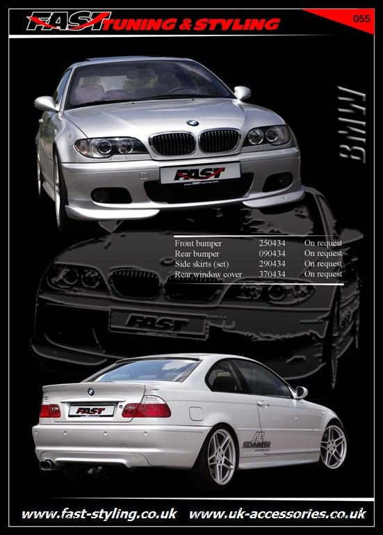 Amazing BMW E46 Coupe Body Kit Silver