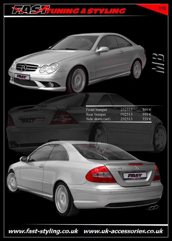 Uk accessories ltd mercedes benz clk w 209 body kit for Mercedes benz clk body kit