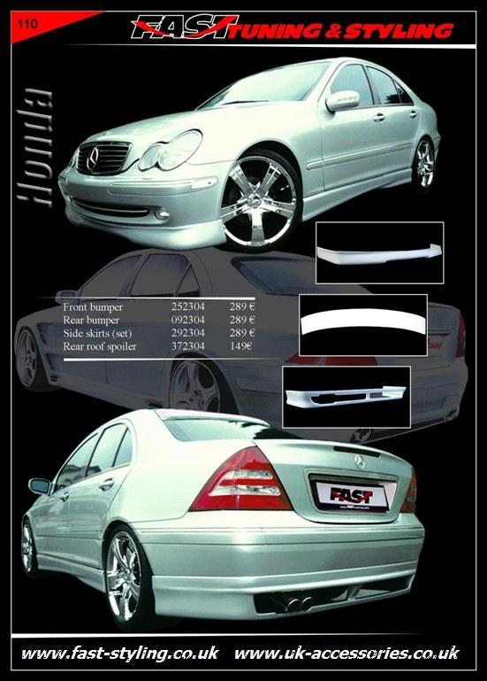 Uk accessories ltd mercedes benz c w 203 body kit for Mercedes benz accessories catalog