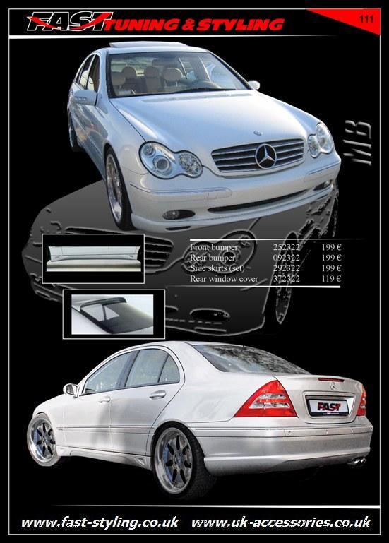 Uk accessories ltd mercedes benz c w 203 body kit i for Mercedes benz accessories catalog