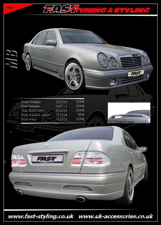 Uk accessories ltd mercedes benz w 210 body kit for Mercedes benz accessories catalog