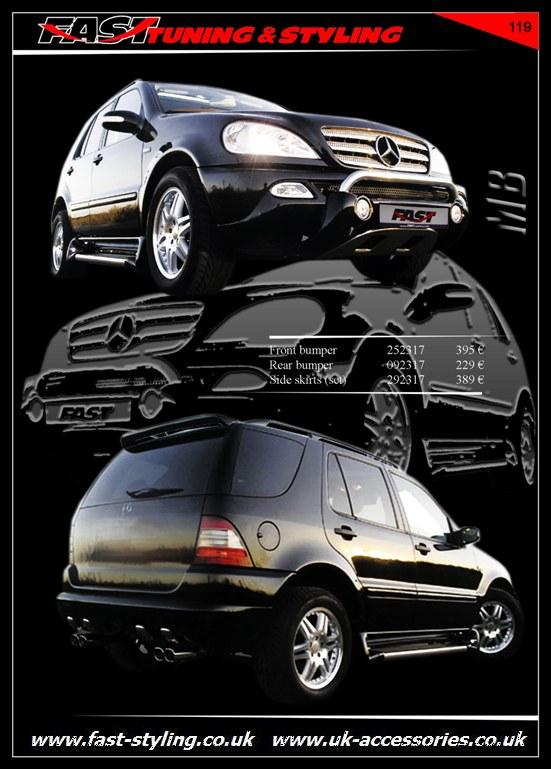 uk accessories ltd mercedes benz ml body kit black. Black Bedroom Furniture Sets. Home Design Ideas