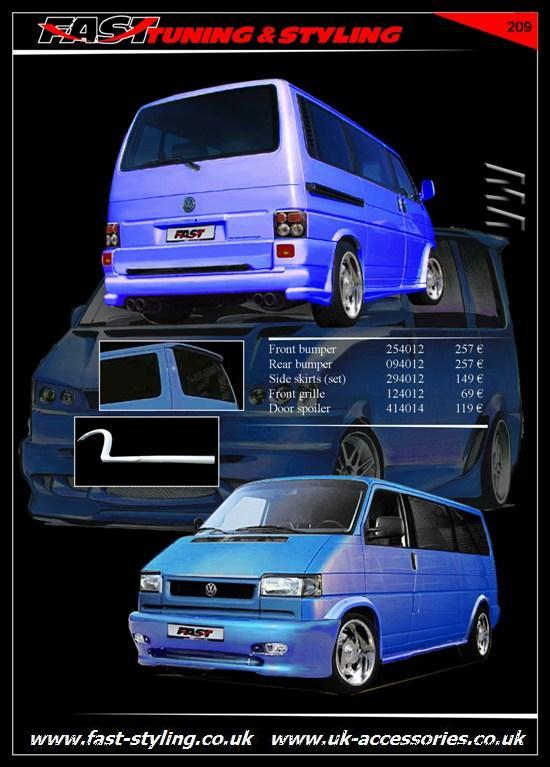 uk accessories ltd vw t4 blue multivan tuning body kit. Black Bedroom Furniture Sets. Home Design Ideas